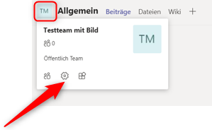 Team Bild via Kanal ändern - Microsoft Team