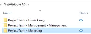 Darstellung des Namens im Datei-Explorer