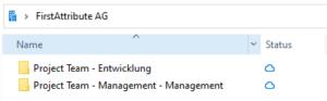 Datei-Name des privaten Kanals wird im Datei-Explorer verdoppelt